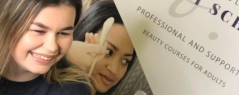 Airbrushing course students at Bristol Beauty School